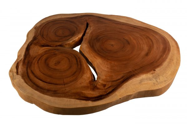 Round Live Edge Dining Table in Acacia