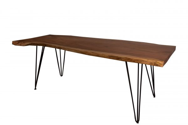Restaurant Table Natural Edge Acacia Wood with iron legs