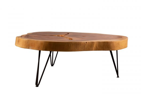 acacia round live edge coffee tables