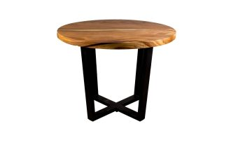 Acacia Restaurant Table Round with Standard Edge