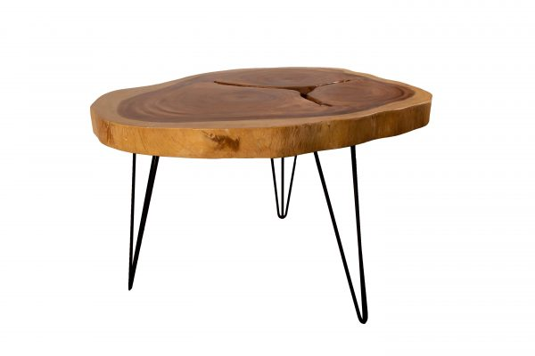 round acacia live edge dining table