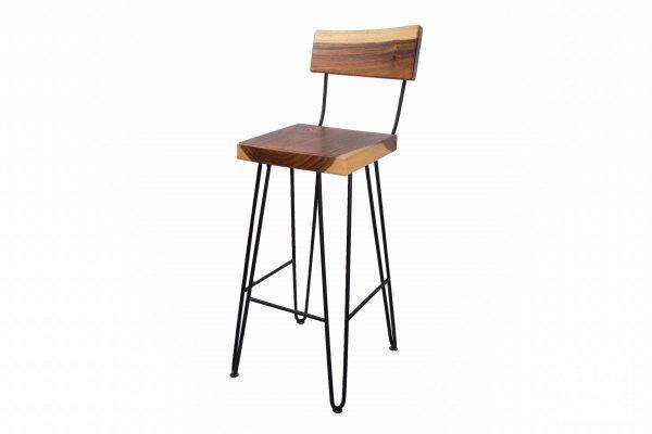 live edge bar stool