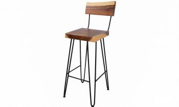 acacia wood bar stool