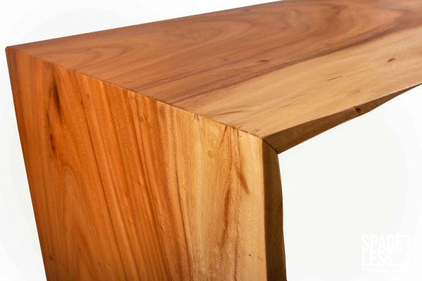 sled coffee table in acacia