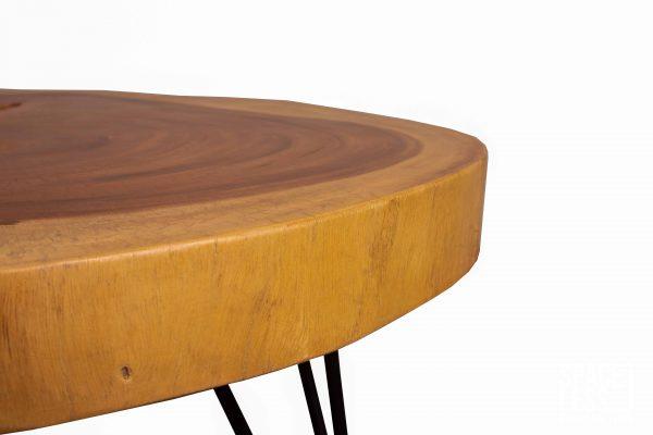 round live edge table