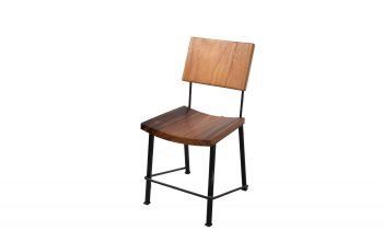 Acacia Dining Chairs with Steel Legs