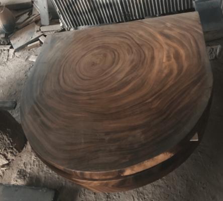 custom live edge round table