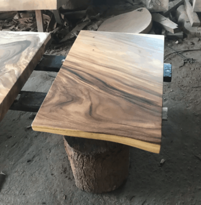 square acacia wood dining table
