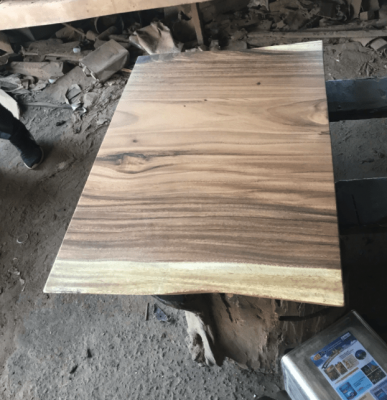 acacia live edge dining table for Kojo