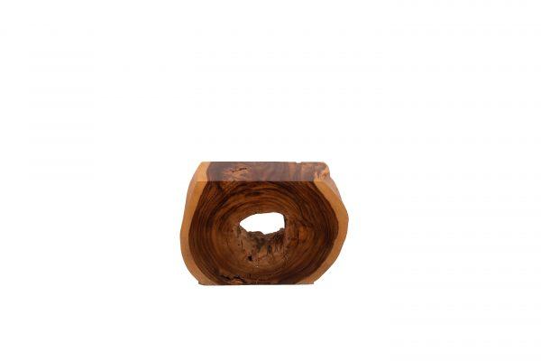 live edge stool slice acacia