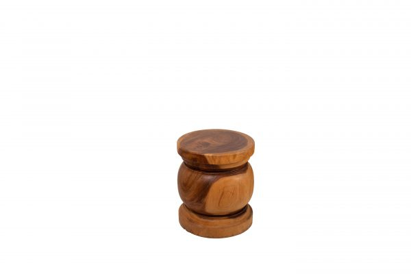 turned wood stool