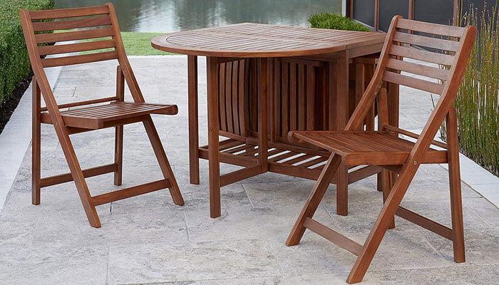 acacia patio set