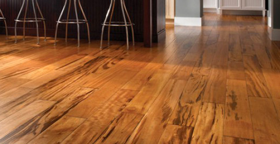 acacia wood flooring lasts for years shown in this home