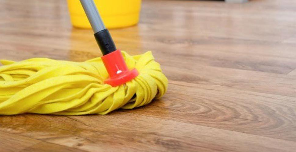 mopping acacia wood flooring