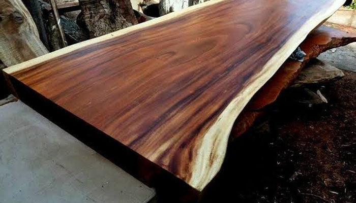 acacia live edge dining table