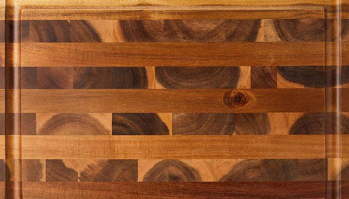 acacia end grain butcher block