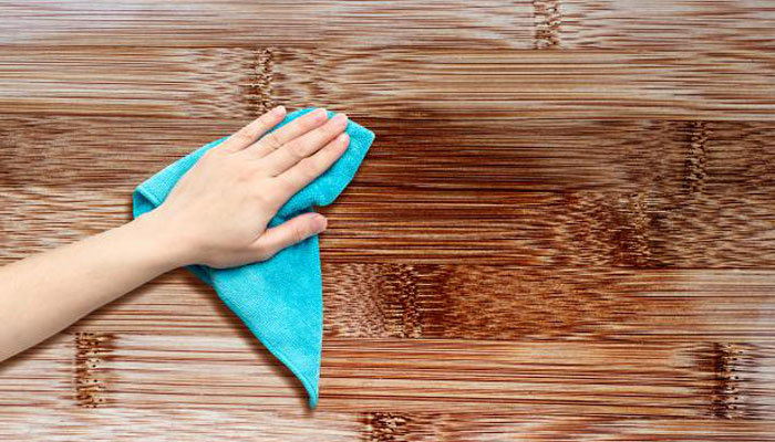 how to stain acacia wood with a cloth and oil